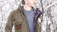 Barbour Wool Fishing Jacket from the Barbour Heritage Collection closeup