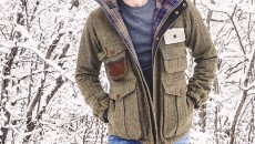 Barbour Wool Fishing Jacket from the Barbour Heritage Collection walking