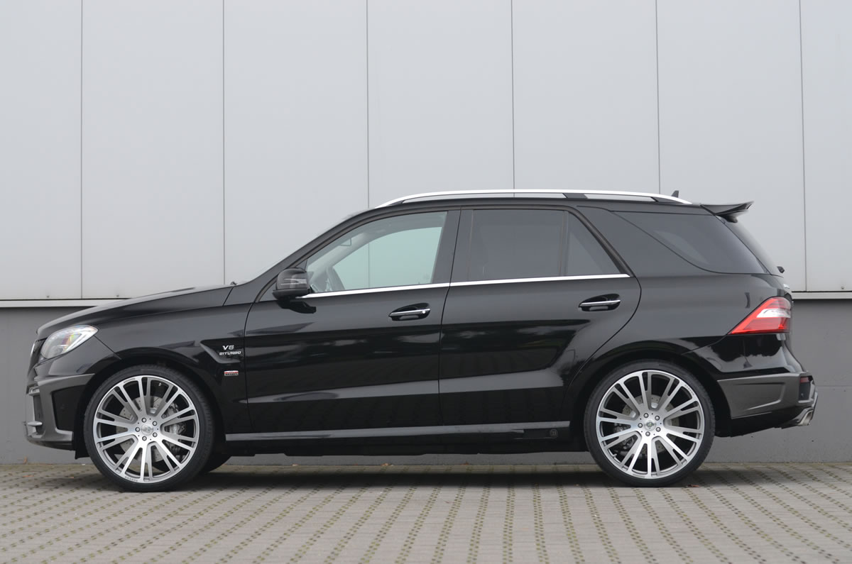 Brabus 2012 Mercedes ML63 AMG exterior side view