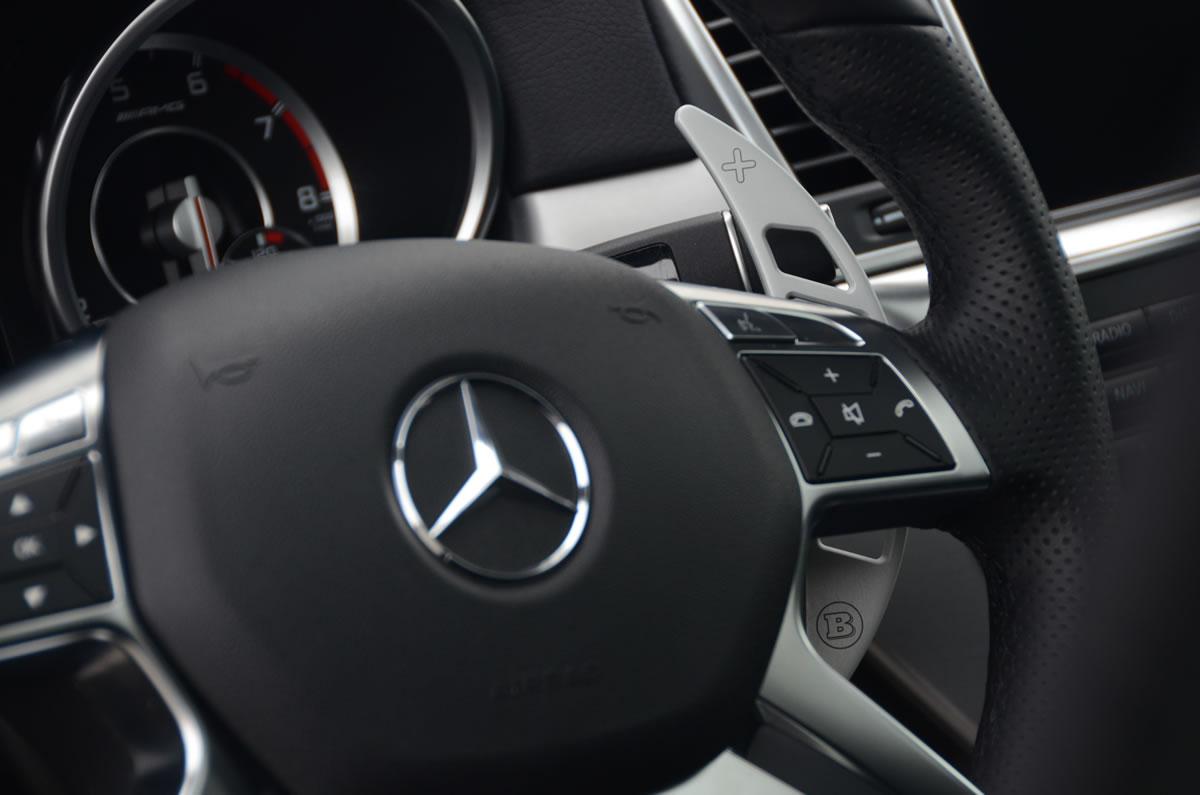 Brabus 2012 Mercedes ML63 AMG interior steering wheel