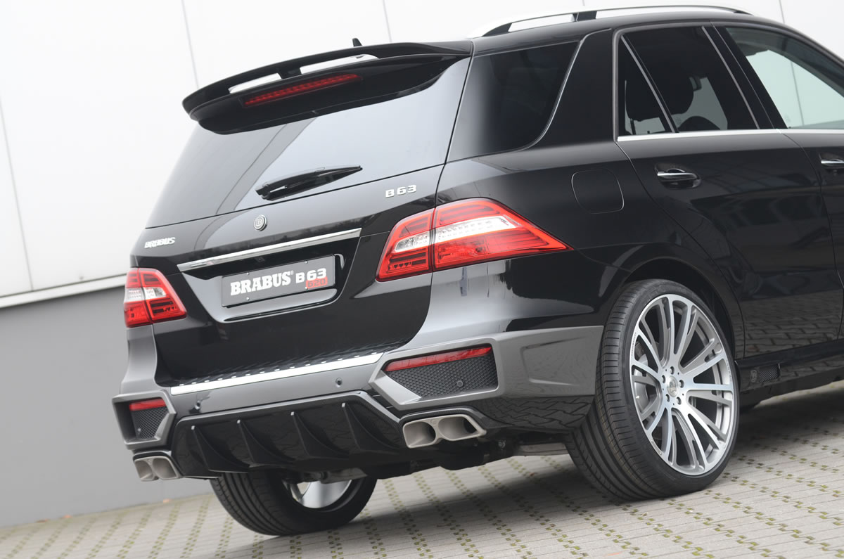 Brabus 2012 Mercedes ML63 AMG exterior rear