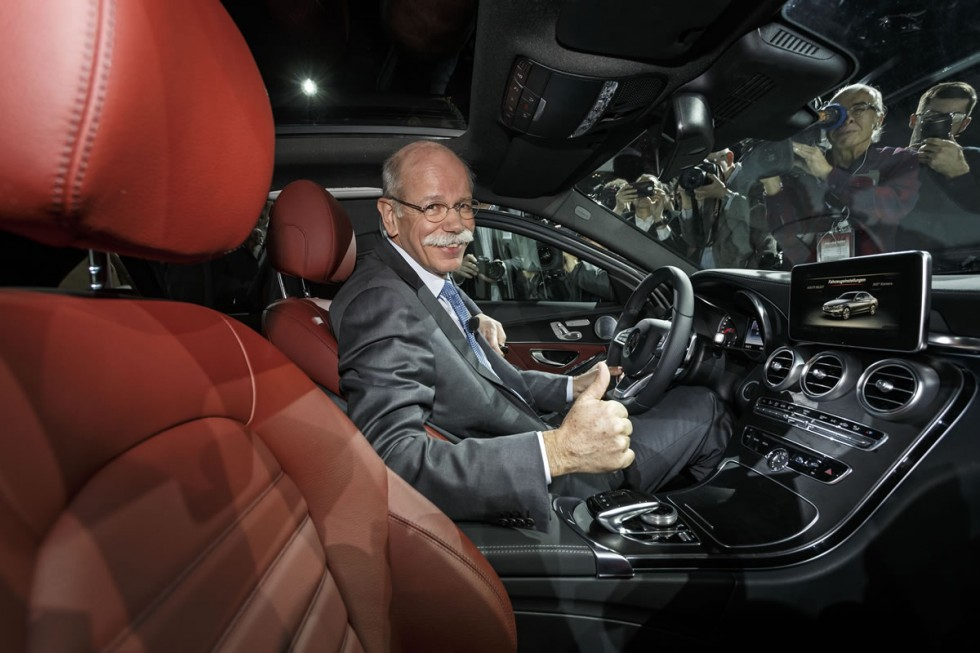 Dr. Dieter Zetsche, Chairman of the Board of Management of Daimler AG and Head of Mercedes-Benz Cars, at the world premiere of the new C-Class in Detroit