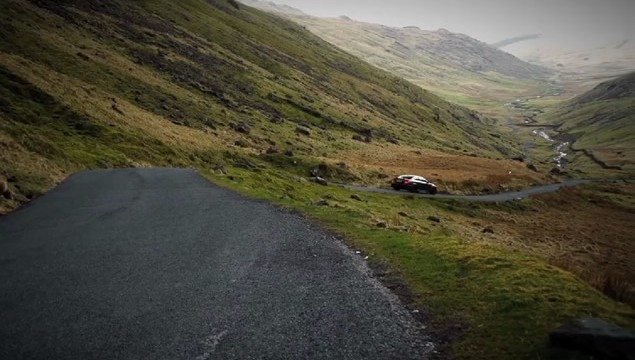 Mercedes C63 AMG Black Series Tackles Hardknott Pass