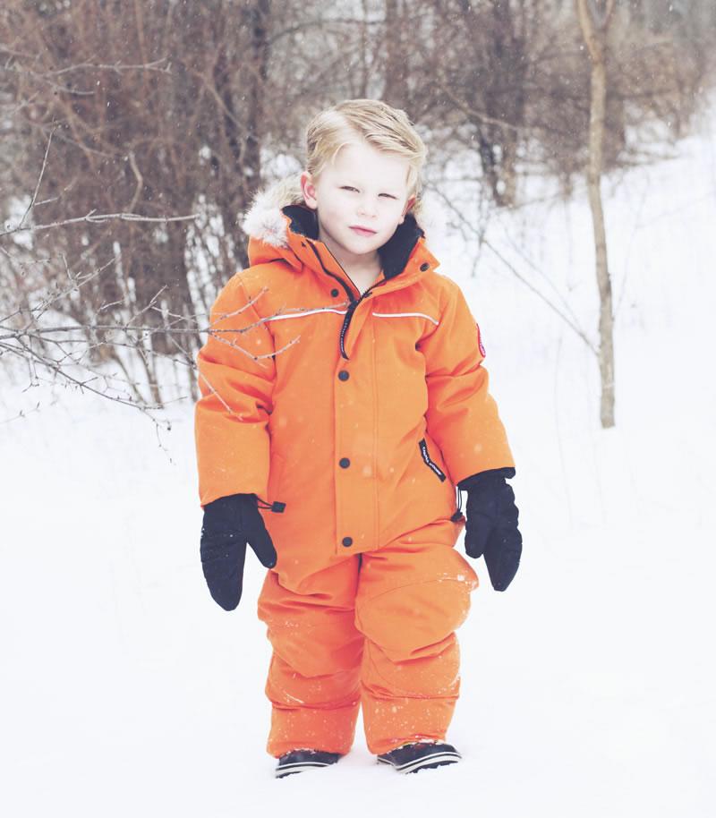 Canada Goose Grizzly Snowsuit Orange 1