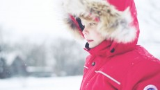 Canada Goose Grizzly Snowsuit Red fur hood