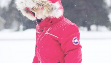 Canada Goose Grizzly Snowsuit Red hood side