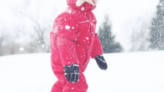 Canada Goose Grizzly Snowsuit Red side