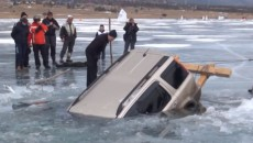 Before you drive out onto that frozen lake, make sure it's actually frozen.