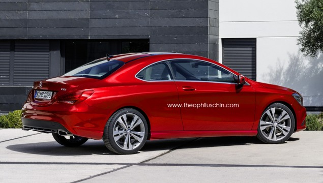 Mercedes CLA-Class Two-Door Coupe Rendered
