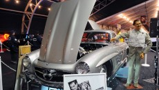 1955 Mercedes-Benz 300 SL Gullwing hood up clark gable