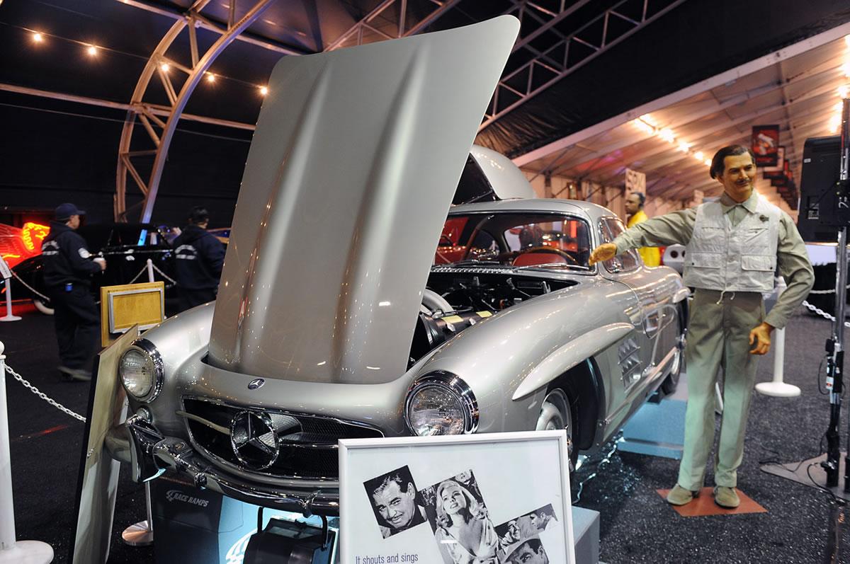 1955 Mercedes-Benz 300 SL Gullwing hood up clark gable
