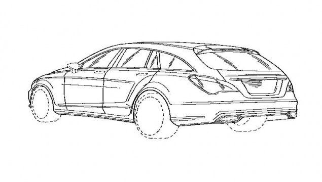 2013 Mercedes-Benz CLS Shooting Brake Patent Drawing