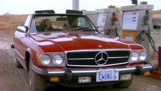 Bobby Ewing from the TV show Dallas had a taste for the finer things, like his cherry red 450 SL Mercedes convertible.