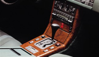 Interior of a Mercedes-Benz limousine of the 124 series, 1989.