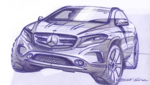 Mercedes GLA Sketches Revealed