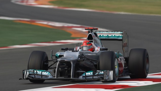 Mercedes AMG Petronas No Points at 2012 F1 Indian Grand Prix