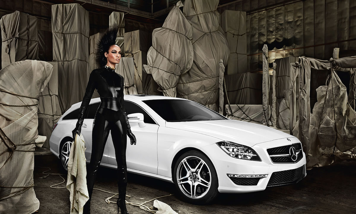 photo of Joan Smalls Mercedes - car