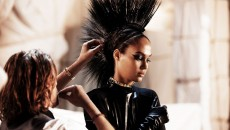 Model Joan Smalls Mercedes-Benz CLS Shooting Brake hair