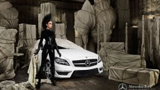 Model Joan Smalls Mercedes-Benz CLS Shooting Brake