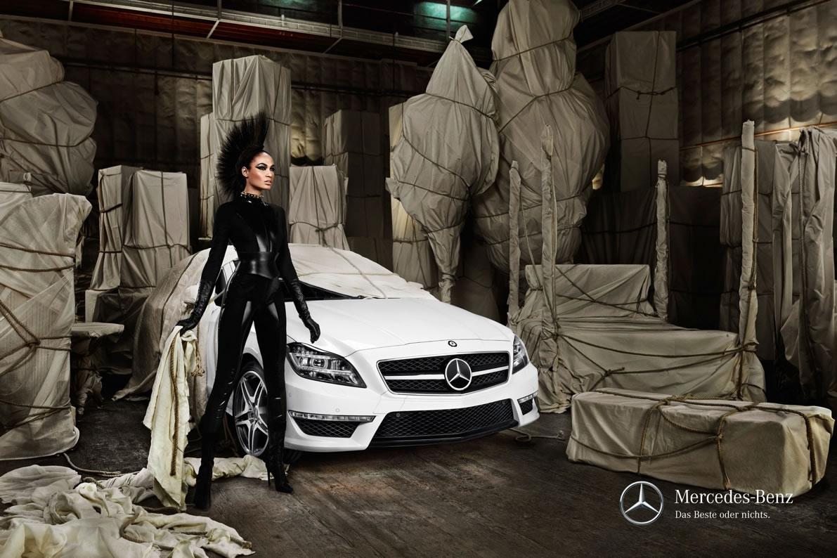 Model Joan Smalls Mercedes-Benz CLS Shooting Brake 5