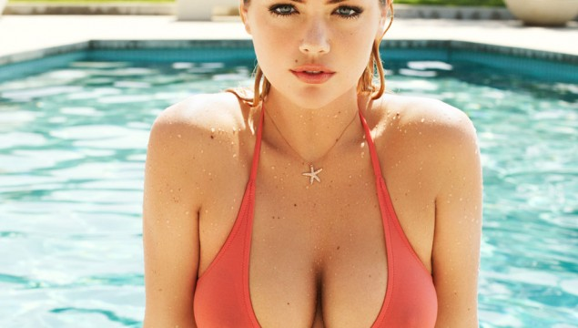 Kate Upton Bikini Pool GQ Magazine by Terry Richardson