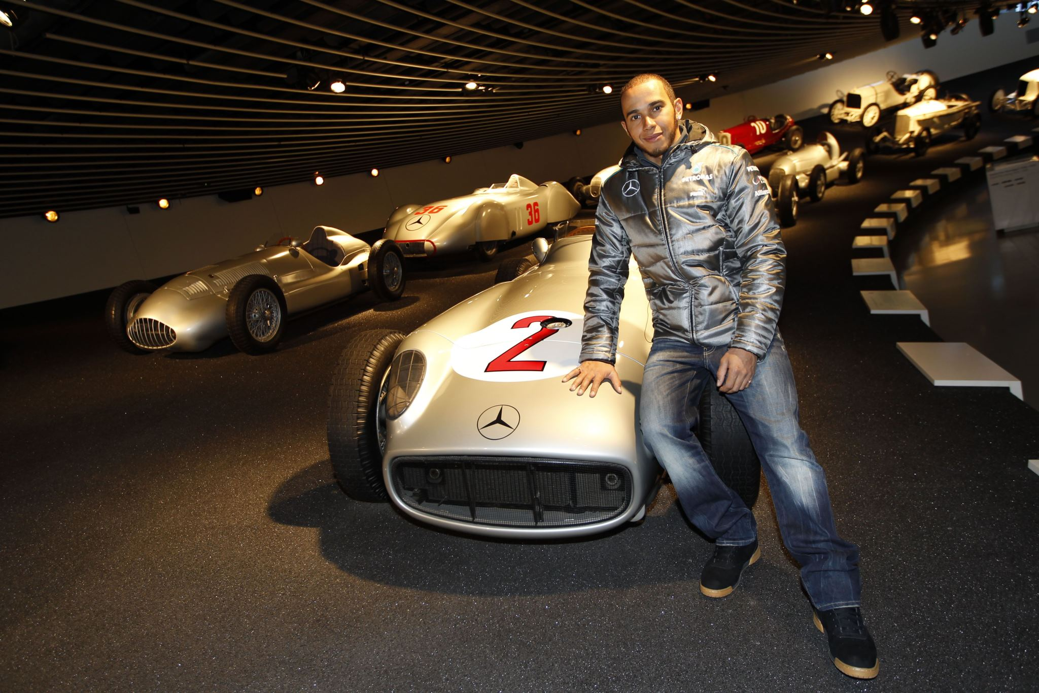 Lewis Hamilton Makes First Appearance as a Silver Arrow Driver 4
