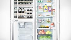 """Liebherr 48"""" SBS 246 Refrigerator Inside"""