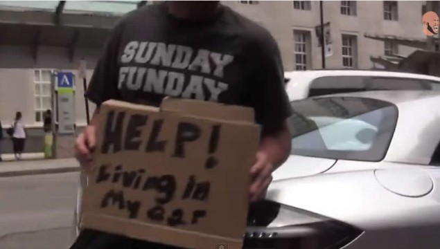 Best Videos of the Year: Homeless in a Mercedes Prank