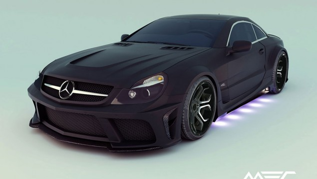 Mercedes SL R230 MEC Design Style purple