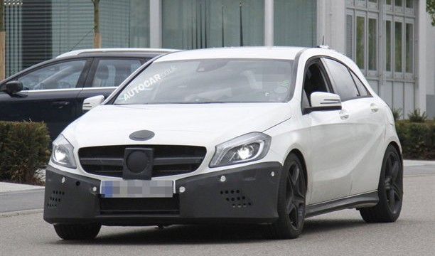 Mercedes A25 AMG Spy Photos front end