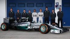 MERCEDES AMG PETRONAS, Jerez, Launch, F1 W05, Nico Rosberg, Lewis Hamilton