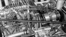 Reims 1954: Marvelous machine: The eight-cylinder racing engine of the W 196 R develops 257 hp from a displacement of 2.5 liters.