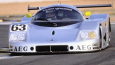 Sauber-Mercedes C 9, Group C racing car,. Starting number 63 – winners: Jochen Mass / Manuel Reuter / Stanley Dickens.