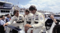 Winners on Sauber-Mercedes C 9, Group C racing car: Jochen Mass / Manuel Reuter / Stanley Dickens.