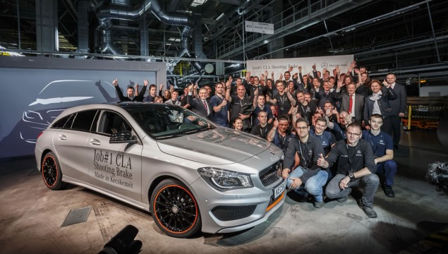 Start of production of the CLA Shooting Brake