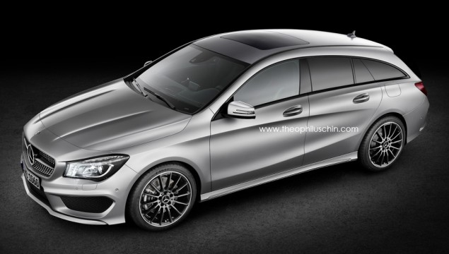 Mercedes-Benz CLA Shooting Brake Aerial Photo