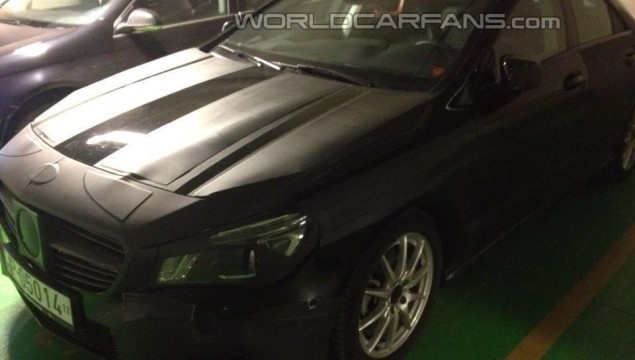 Close Up Spy Photos of the Mercedes-Benz CLA