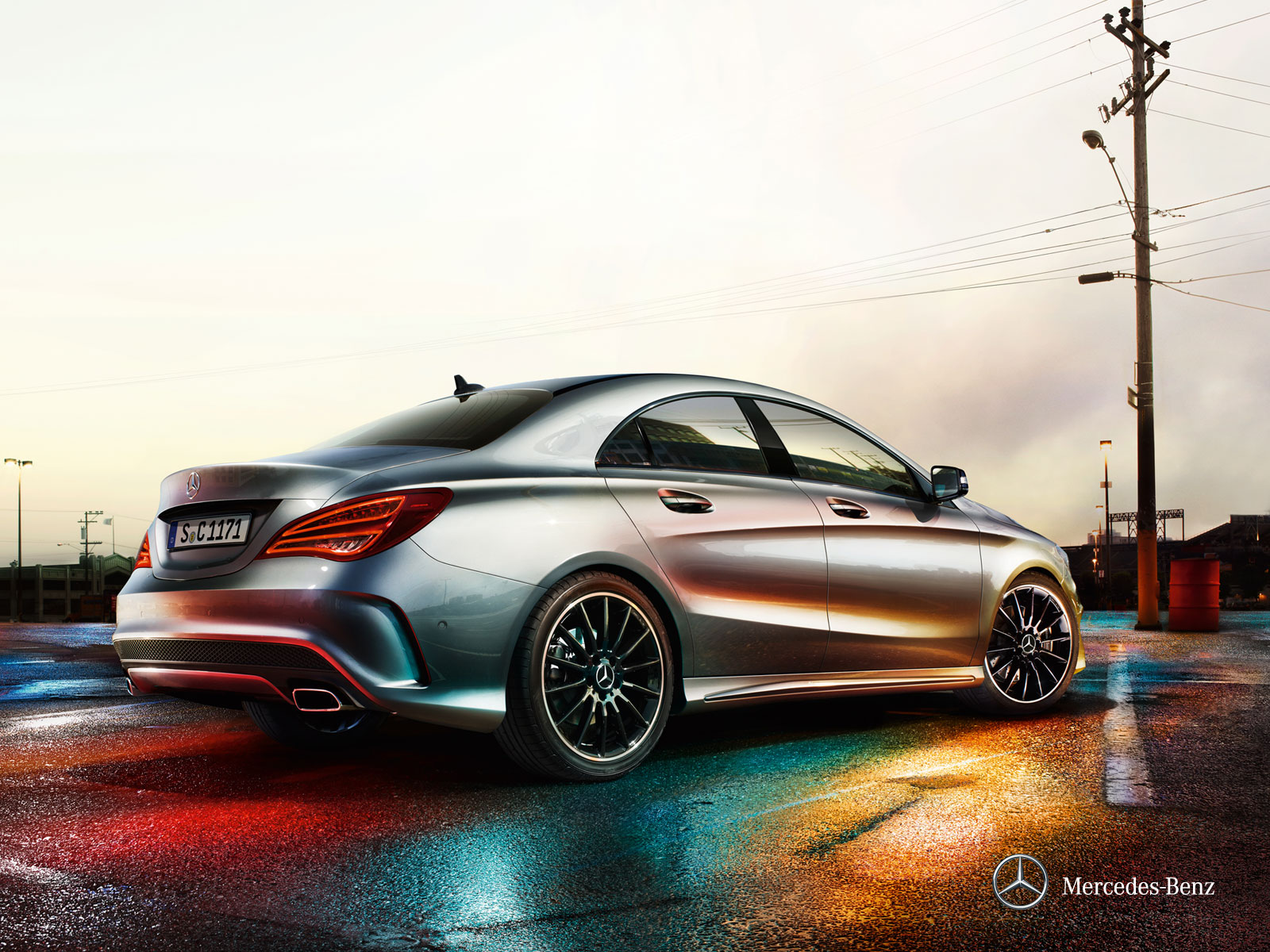 2014 Mercedes CLA45 AMG in Mountain Grey