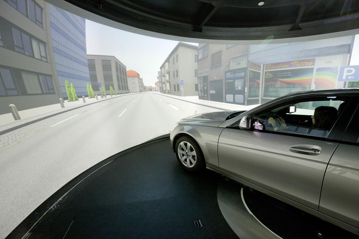 Daimler AG driving simulator in Sindelfingen 3