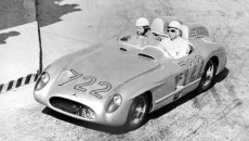Mille Miglia (Brescia/Italy), May 1, 1955. Driving a Mercedes-Benz 300 SLR racing sports car, Stirling Moss and Denis Jenkinson emerged as the winners of this prestigious race.