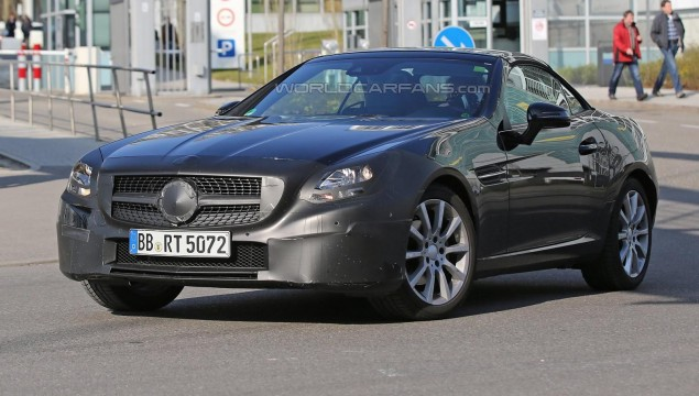 Mercedes-Benz SLC spy photo