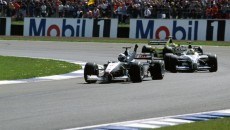 The Scot David Coulthard wins the 2000 British Grand Prix in the McLaren Mercedes MP4-15.