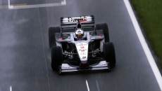 David Coulthard in the McLaren-Mercedes MP4-15 at the British Grand Prix in 2000