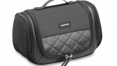 Washbag AMG made from black nylon/leather with diamond-pattern topstitching. Size approx. 28 × 16 × 15 cm. Item number B66951757. Price: 119.90 €