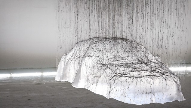 Mercedes CLA as a Floating Sculpture