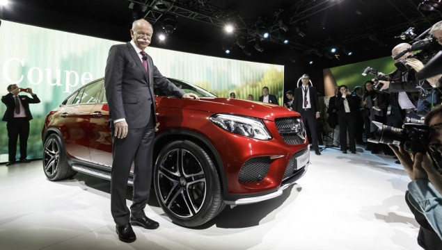 Dr. Dieter Zetsche, Chairman of the Board of Management of Daimler AG and Head of Mercedes-Benz Cars, at the world premiere of the new Mercedes-Benz GLE Coupes in Detroit.