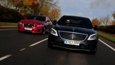 Mercedes S63 AMG Vs. Jaguar XJRMercedes S63 AMG Vs. Jaguar XJR