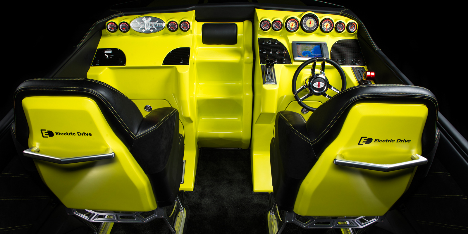 sls amg coupe electric drive cigarette boat interior