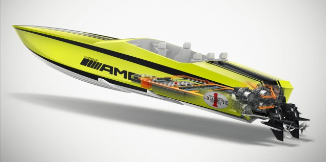 SLS AMG Coupe Electric Drive Cigarette Boat