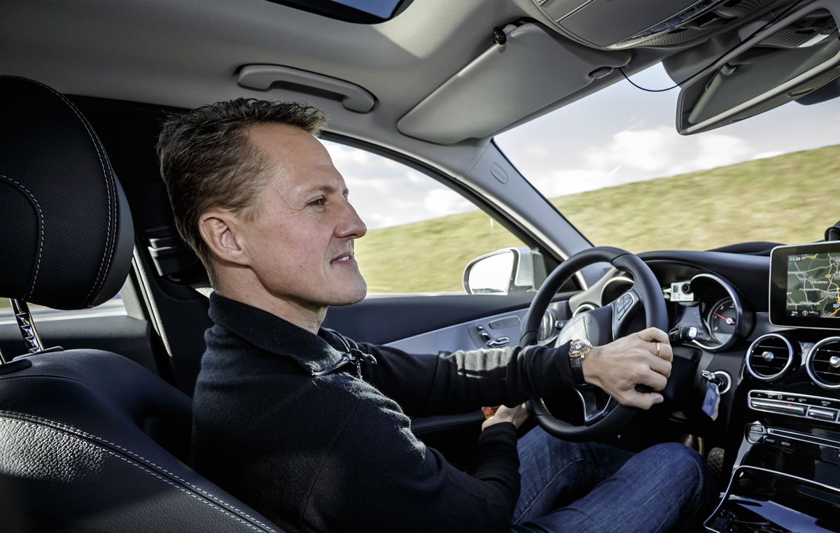 Michael Schumacher tests the new C-Class 1
